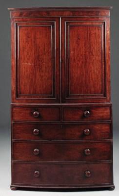 A William IV mahogany bowfront