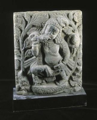 A north Indian grey stone figu