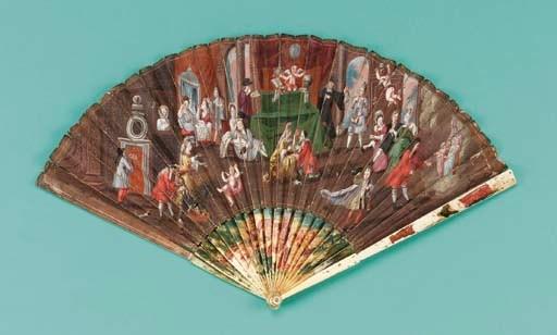 A rare 17th century fan, the l