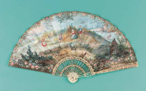 A fan with pagoda sticks, the