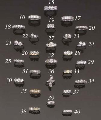 A diamond two stone ring,