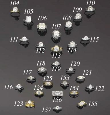 A diamond single stone ring,