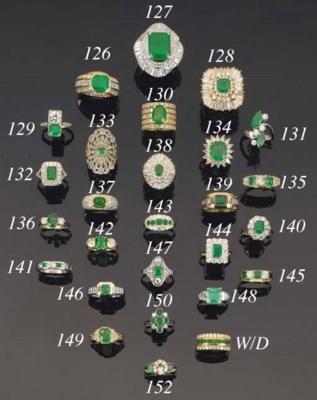 An emerald and diamond single