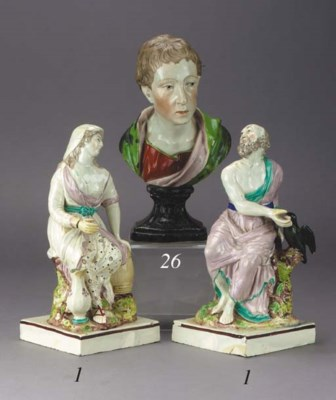 A pair of pearlware figures of