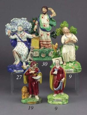 A pearlware figure of Saint Pa