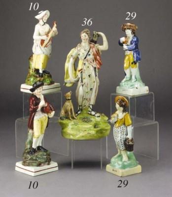 A Walton pearlware figure of D