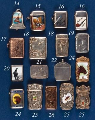 A 9ct gold vesta case