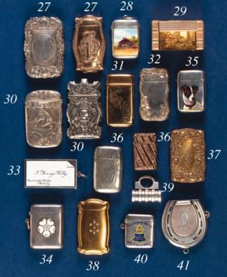 A gold vesta case
