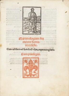 LITURGIES -- Martyrologium s[e