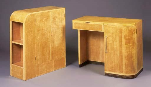 A SATINBIRCH DRESSING TABLE