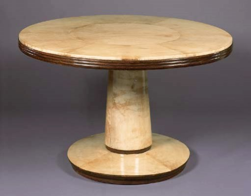 A VELLUM CENTRE TABLE