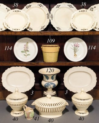 Various items of Leeds creamwa