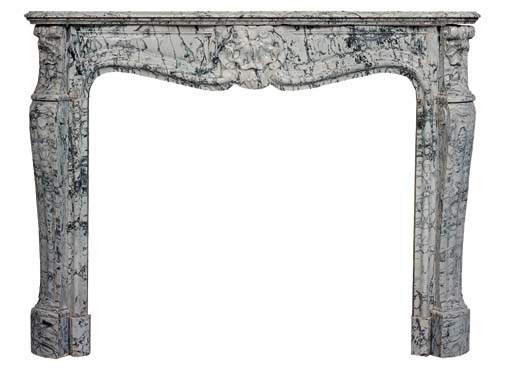 A Louis XV style variegated gr