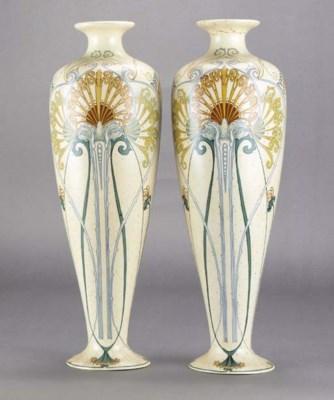 A pair of Arnhem ceramic vases