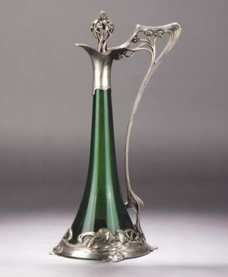 A WMF Art Nouveau silvered met