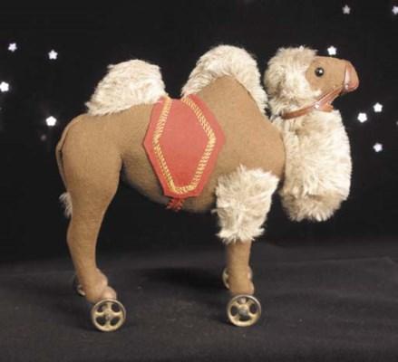A rare Steiff Camel on wheels