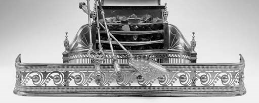 A Victorian brass fender, mid