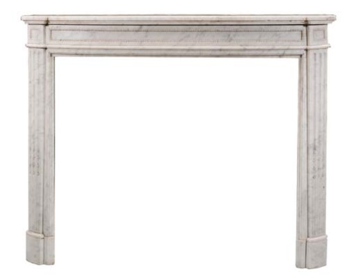 A white marble chimneypiece, 2