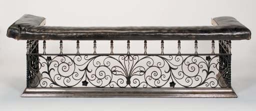 An English wrought iron, steel