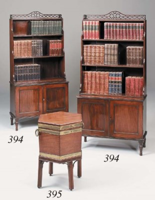 A George III mahogany and bras
