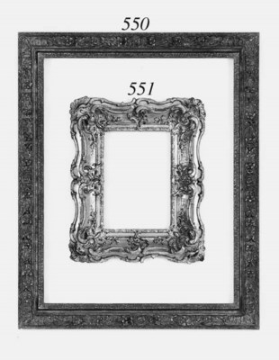 A carved and gilded frame in t