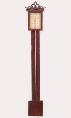 Two mahogany barometers
