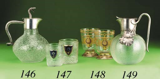A pair of glass Tumblers from