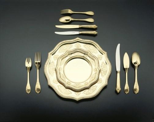 Assiettes en vermeil italien