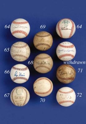 1923 YANKEE TEAM SIGNED BALL