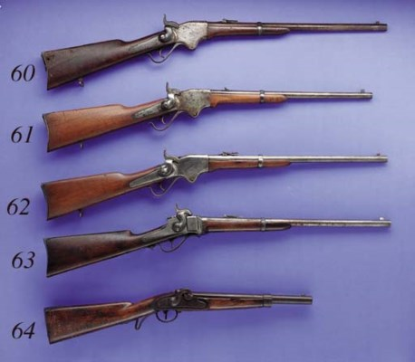 A .52 SHARPS NEW MODEL 1863 CA