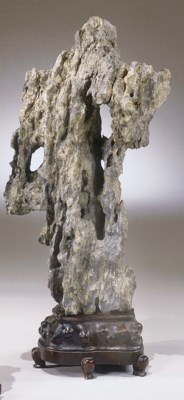 A GREY STONE SCHOLAR'S ROCK