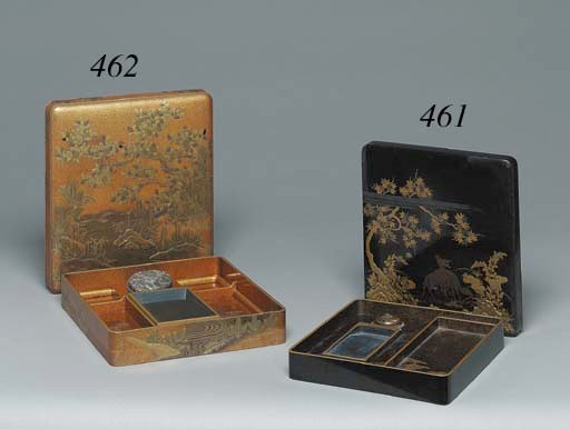 A LACQUER WRITING BOX (SUZURIB