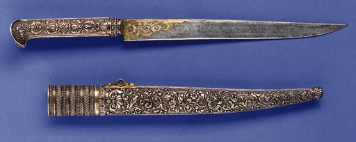 A FINE FRENCH SILVER MOUNTED W