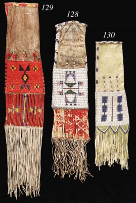 A WESTERN SIOUX BEADED AND QUI