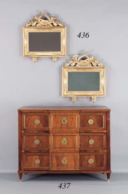 A GERMAN NEOCLASSIC LACQUERED-