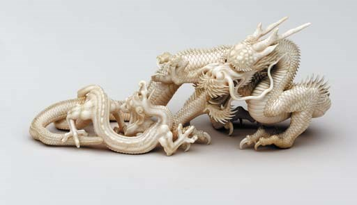 An Ivory Table Ornament (Okimo