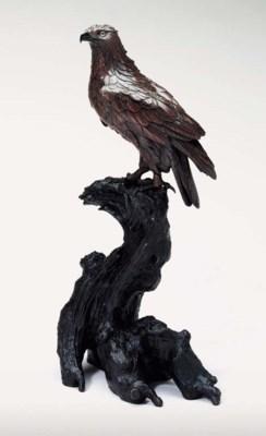 A Bronze Model of a Hawk