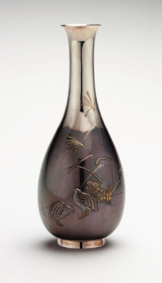 A Silver and Soft-Metal Vase