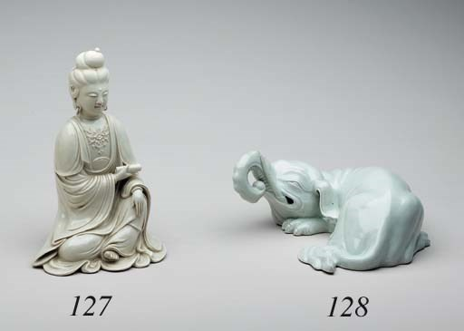 A White Porcelain Model of Kan