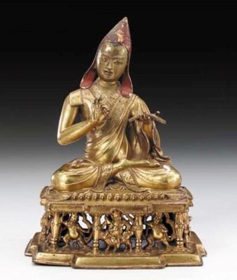 A Gilt Copper Figure of a Maha