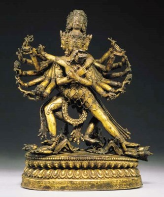 A Rare Gilt Bronze Figure of H