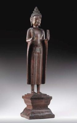 Standing Wooden Buddha