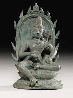 A Bronze Figue of Vajrasattva