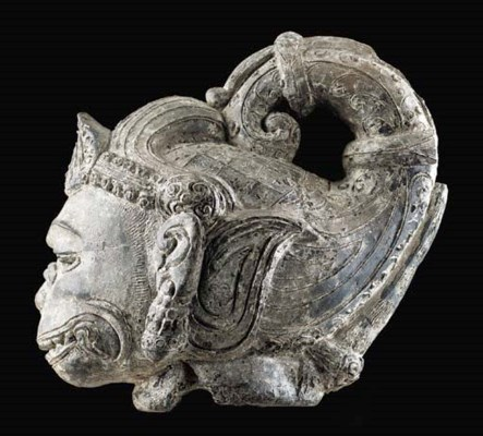 A Terracotta Head of Hanuman