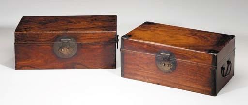 Two Huanghuali Boxes, Yixiang