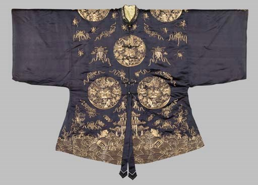 A Gold-Embroidered Blue-Ground