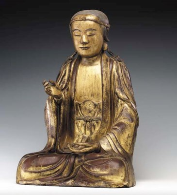 A Gilded Dry Lacquer Figure of