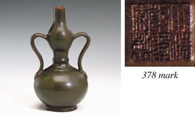A Fine Teadust-Glazed Double-G