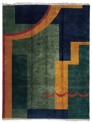 A CHINESE ART DECO CARPET