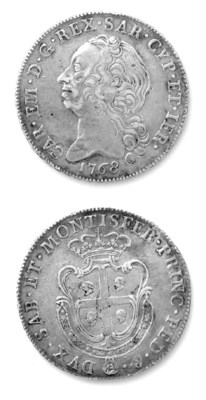 Carlo Emanuele III, Scudo Sard